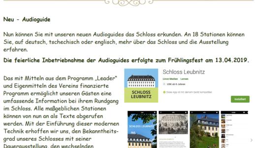 Erklärungstafel für die Bedienung des Audioguides.