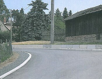 Neu gebaute Straße.