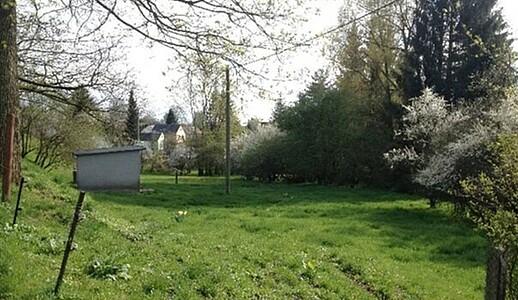 Wiesengrundstück des ehemaligen Schulgartens.